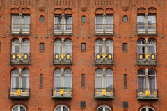 Detail of facade of Copenhagen Palace Hotel Royalty Free Stock Photo