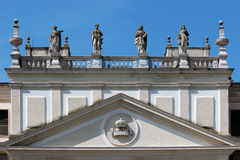 Detail of the facade of the disused stables of Villa Pisani, Italy. Detail of the facade of the disused stables of Villa Pisani, italian national museum royalty free stock photos