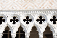 Detail of facade of the Doge's palace in Venice Stock Photography