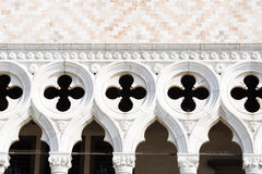 Detail of facade of the Doge's palace in Venice Royalty Free Stock Image