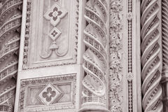 Detail on the Facade Doumo Cathedral Church, Florence Stock Photo