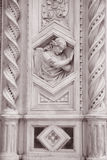 Detail on the Facade Doumo Cathedral Church, Florence Stock Photography