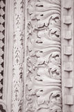 Detail on the Facade Doumo Cathedral Church, Florence Royalty Free Stock Image