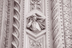Detail on the Facade Doumo Cathedral Church, Florence Stock Images