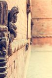 Detail of facade on Durbar square in Kathmandu. Stock Photo