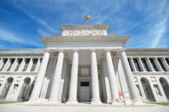 Detail of the facade of the famous el Prado Museum in Madrid, Spain Royalty Free Stock Photo