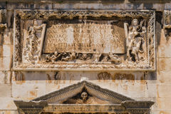 Detail of the Facade of the Franciscan Monastery in Dubrovnik, C Royalty Free Stock Photo