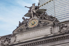 Detail of the facade of Grand Central Terminal, New York Royalty Free Stock Images