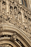 Detail on Facade of Houses of Parliament, Westminster; London,. England, UK Stock Image