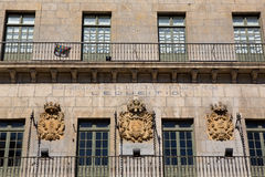Detail of facade in Lekeitio Stock Images