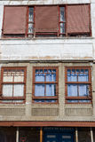 Detail of facade in Lekeitio Royalty Free Stock Photo