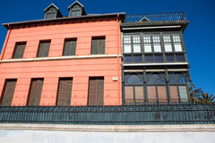 Detail of facade in Lekeitio Royalty Free Stock Photography