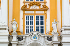 Detail of facade of Melk Abbey, Austria Royalty Free Stock Photo