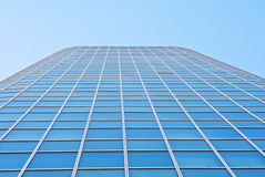 Detail facade of an office building. Detail of the facade an office building in the future against the blue sky Royalty Free Stock Photos