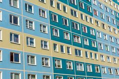 Old block of flats in bad condition royalty free stock photography