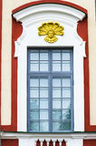 Detail of the facade of the palace building Stock Image