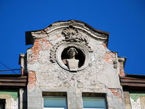 Detail of the facade of a residential house Royalty Free Stock Photos