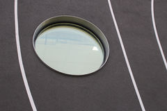 Detail of the facade and round windows of a modern building Royalty Free Stock Images