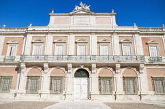 Detail of the facade of The Royal palace of Aranjuez, Madrid, Spain. Royalty Free Stock Photo