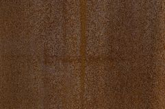 Detail facade of rusted Corten steel with different patterns, textures and structures stock photography