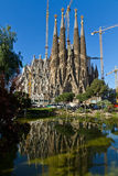 Detail facade Sagrada Familia Barcelona Spain Stock Photos