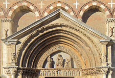 Detail of facade, Saint Lawrence Church Royalty Free Stock Photos