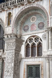 Detail on Facade of San Marcos - St Marks Cathedral Church, Veni Royalty Free Stock Photo