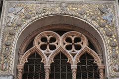 Detail on Facade of San Marcos - St Marks Cathedral Church, Veni Stock Images