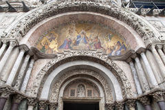 Detail on Facade of San Marcos - St Marks Cathedral Church, Veni Royalty Free Stock Images