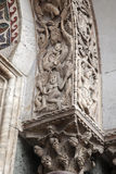 Detail on Facade of San Marcos - St Marks Cathedral Church, Venice. Italy stock images