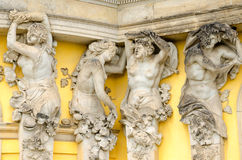 A detail of the facade of the Sanssouci palace, Potsdam, Germany. Sanssouci is the name of the former summer palace of Frederick the Great, King of Prussia, in stock photography