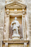 Detail on the facade of Sant'Agata Cathedral, Gallipoli, Italy Royalty Free Stock Image