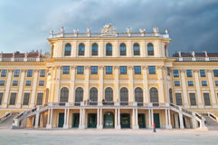 Detail from the facade of Schonbrunn Palace in Vienna Stock Photo