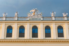 Detail from the facade of Schonbrunn Palace in Vienna Stock Images