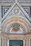 Detail of facade of Siena Cathedral (Duomo di Siena), Siena, Italy Royalty Free Stock Photos