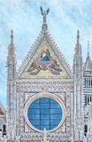 Detail of facade of Siena Cathedral (Duomo di Siena), Siena, Italy Stock Photos