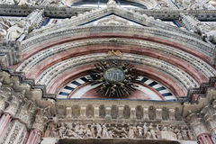 Detail of facade of Siena Cathedral, Siena, Ita Stock Image