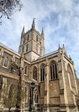 Detail from the facade of Southwark Cathedral in London Royalty Free Stock Images
