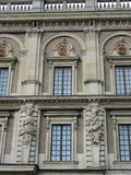 Detail of the facade of the Swedish royal castle Stock Images