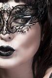 Detail of face of beautiful woman Stock Photos