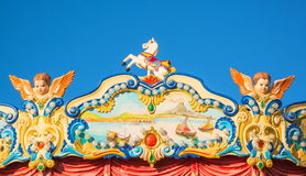 Detail of fairground carousel Royalty Free Stock Image