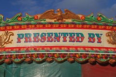 Detail of Fairground ride with lettering Stock Photography