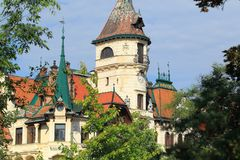 Lesna chateau Royalty Free Stock Images