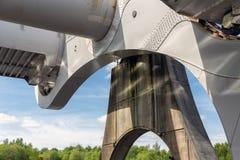 Detail Falkirk Wheel, rotating boat lift in Scotland Royalty Free Stock Image
