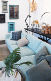 Detail of family sofa in interior Stock Image