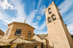 Detail of the famous Olite Castle in Navarra, Spain. Royalty Free Stock Photography