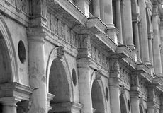 Detail of fantastic white palladian basilica in italy Royalty Free Stock Photography