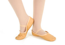 Detail of the feet of a dancer with demi-pointe Royalty Free Stock Photography