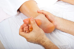 Detail of  feet massage Stock Images