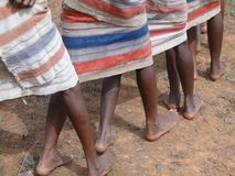 Detail, feet of women dancing Royalty Free Stock Images